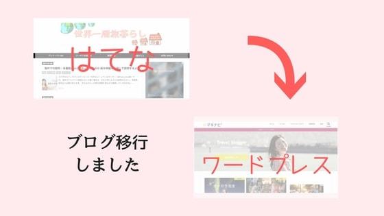 はてなブログ→ワードプレスにブログを移行しました -
